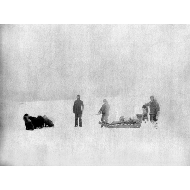 Canada: Expedition, C1882. /Nsergeant Jewell And An Eskimo Identified As Ch