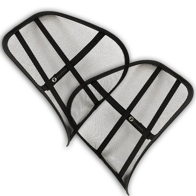 2-Pack Zone Tech Mesh Office Chair & Car Seat Lumbar Back Support