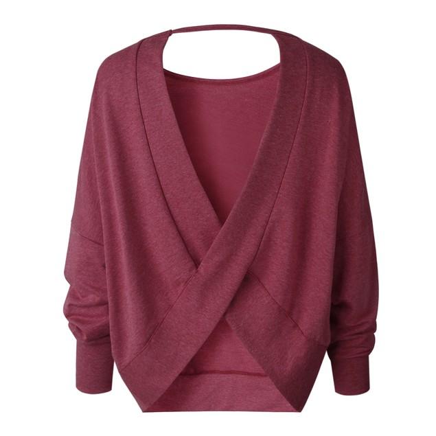 Long Sleeve Open Keyhole Back Sweater