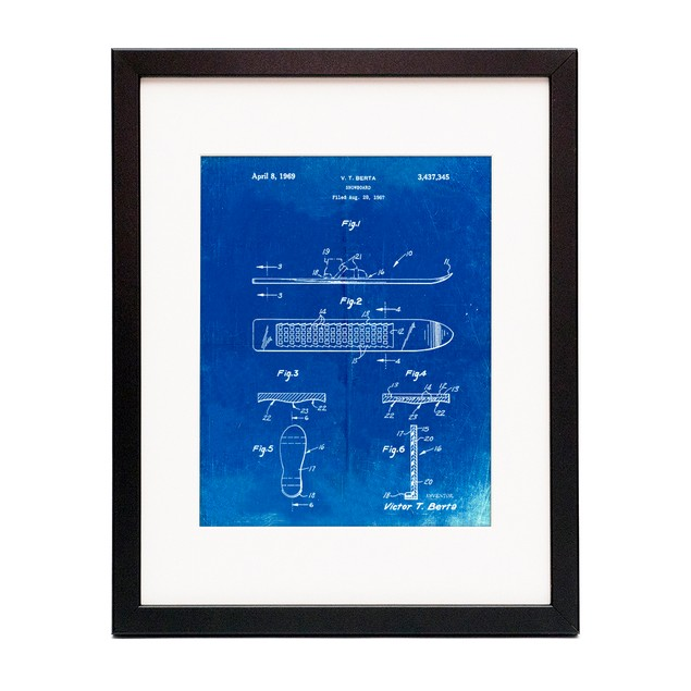 Magnetic Boot Snowboard Patent Poster