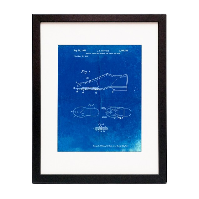 Vintage Bowling Shoes Patent Poster