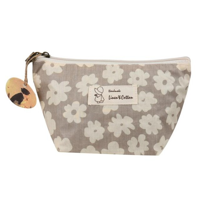 Flower-Printed Travel Cosmetic Bag - 3 Colors