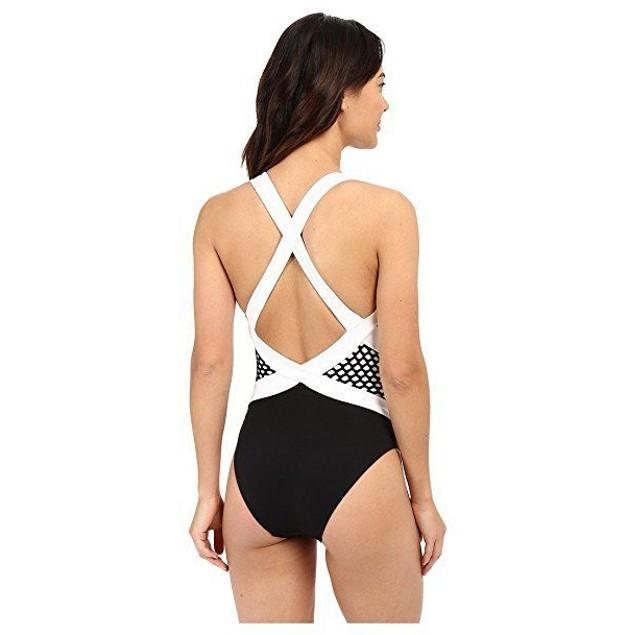 JETS by Jessika Allen Women's Luxe High Neck One Piece Swimsuit Black