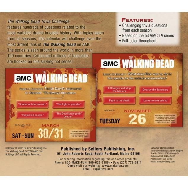 Walking Dead Trivia Desk Calendar, Drama TV by Calendars