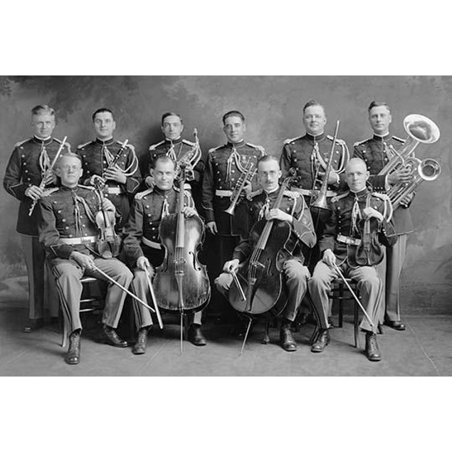 US Marine Corps Band Sextets in Uniform With Instruments Poster
