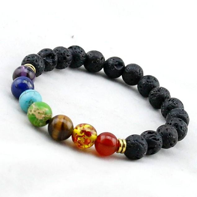 7 Genuine Chakara Healing Natural Stone Bead Bracelet