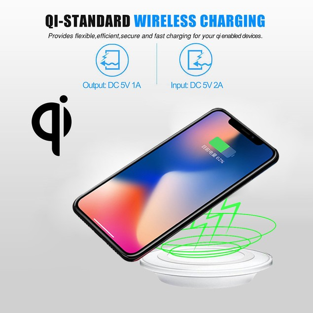 Qi Wireless Charging Charger Pad For iPhone 8/8 Plus/X