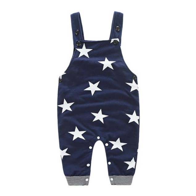 Baby Boys Stripe Overall Outfit
