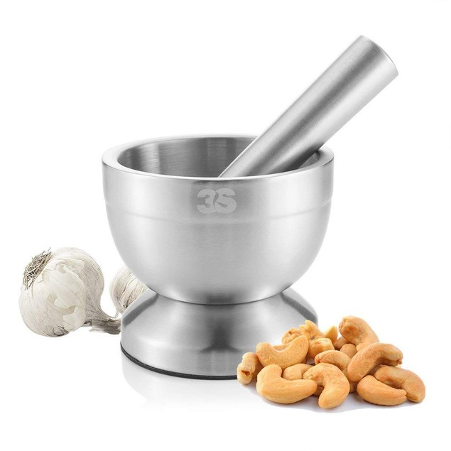 3S Stainless Steel Spice Grinder / Mortar and Pestle Set