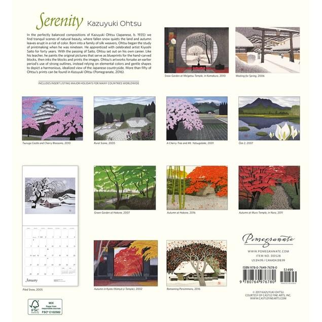 Serenity Wall Calendar, Fine Art by Pomegranate