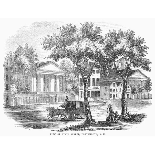 New Hampshire: Portsmouth. /Nview Of State Street In Portsmouth, New Hampsh
