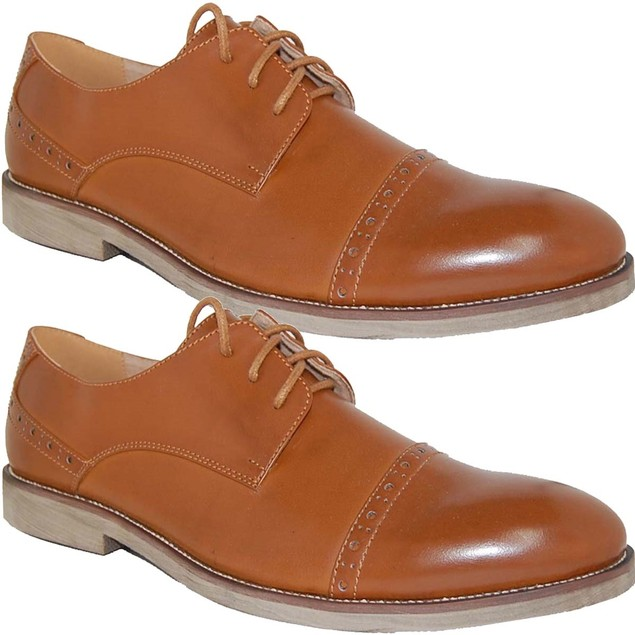 KRAZY SHOES Brown 2 For 1 Leather Lined Men's Shoe