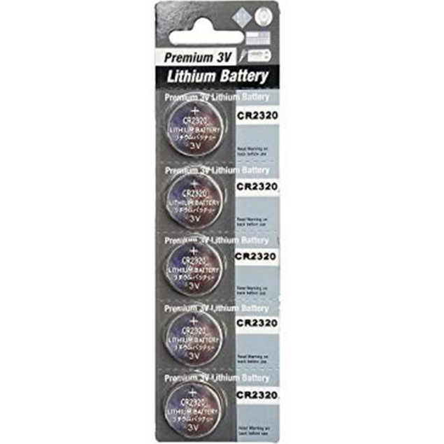 Premium Battery CR2320 3-Volt Lithium Coin Cell Batteries (5 Batteries)