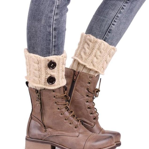 Knitting  Socks Leg Warmers  Boot Cover Keep Warm Socks