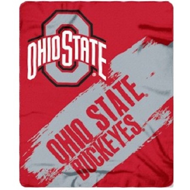 Ohio State Buckeyes NCAA Northwest Fleece Throw