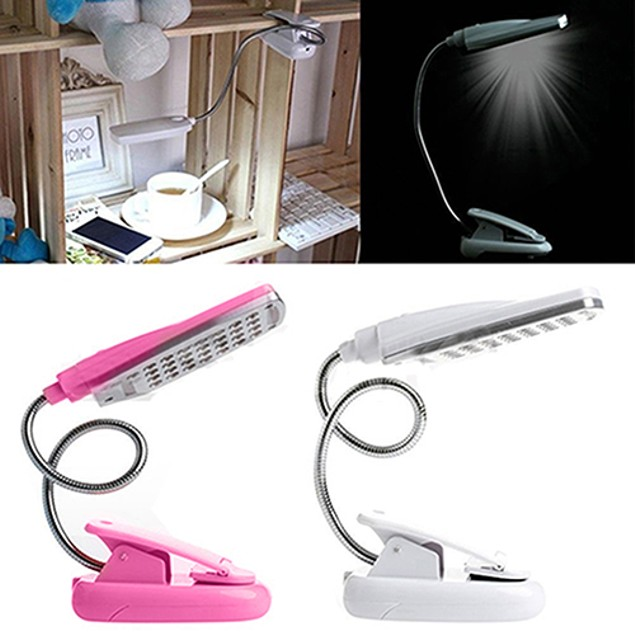 Flexible Adjustable Clip On Clamp Desk Lamp Bedside Reading Table Light