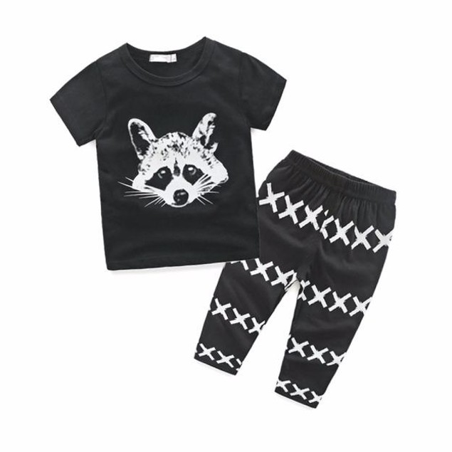 Newborn Kids Baby Boys Outfits T-shirt Tops+Pants Clothes Set