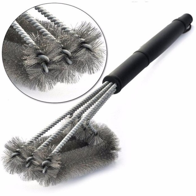 BBQ Grill Brush Stainless Steel Barbecue Cleaning Tool Woven Wire Best Pric