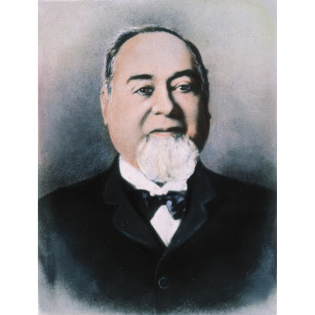 Levi Strauss (1829?-1902). /Namerican Manufacturer. Oil Over A Photograph.