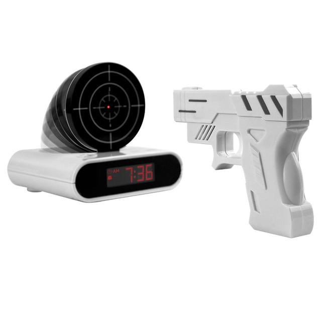 Gun & Target Recordable Alarm Clock by Trademark Games