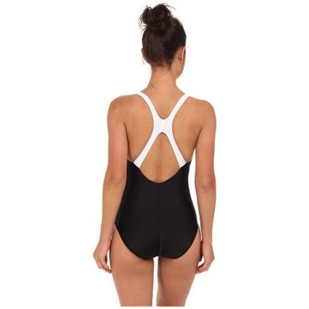 Speedo Contemporary Ultraback One-Piece Swimsuit,Black Sz 8
