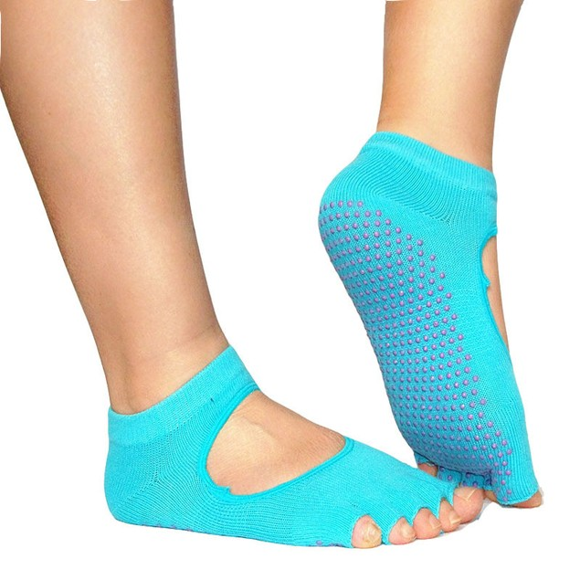 5-Toe Non-Slip Exercise Socks - Assorted Colors