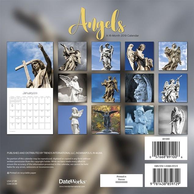 Angels Mini Wall Calendar, Christian by Calendars
