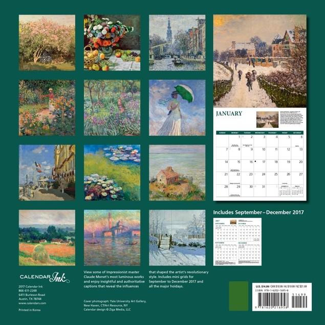 Monet Wall Calendar, Fine Art by Graphique De France