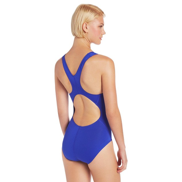 TYR Women's Durafast Elite Solid Maxfit Swimsuit Royal SIZE 38