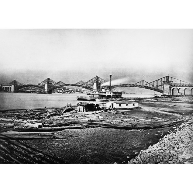 St. Louis: Eads Bridge. /Na View Of The Eads Bridge, Spanning The Mississip