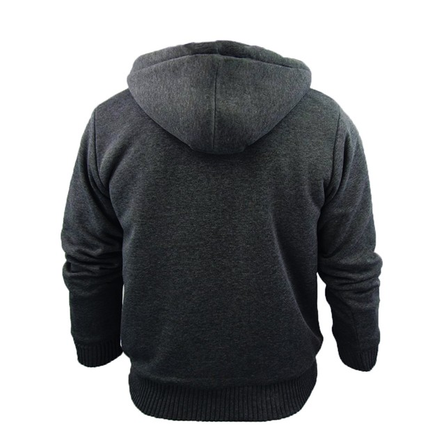 Men's Heavy Sherpa Lined Zip Up Hoodie S-2X