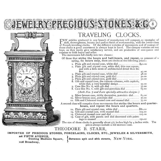 Clock Advertisement, 1890. /Nadvertisement From An American Magazine, 1890.