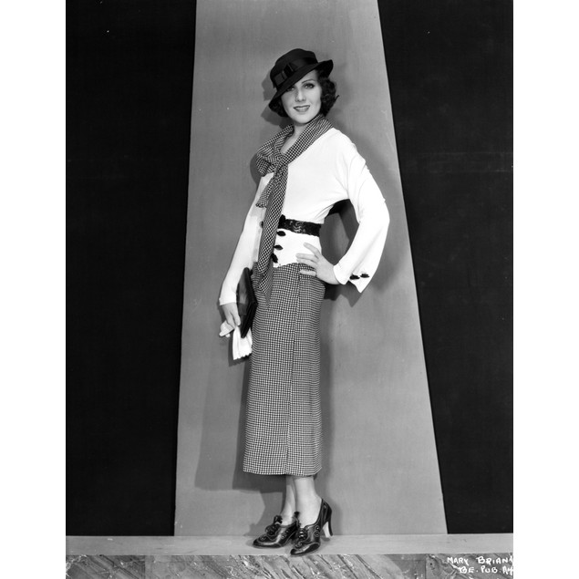 Mary Brian standing in White Coat Poster