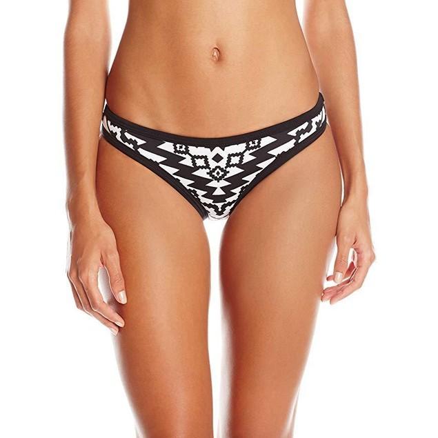 Seafolly Women's Kasbah Scuba Hipster Bikini Bottom, Black/White, 4