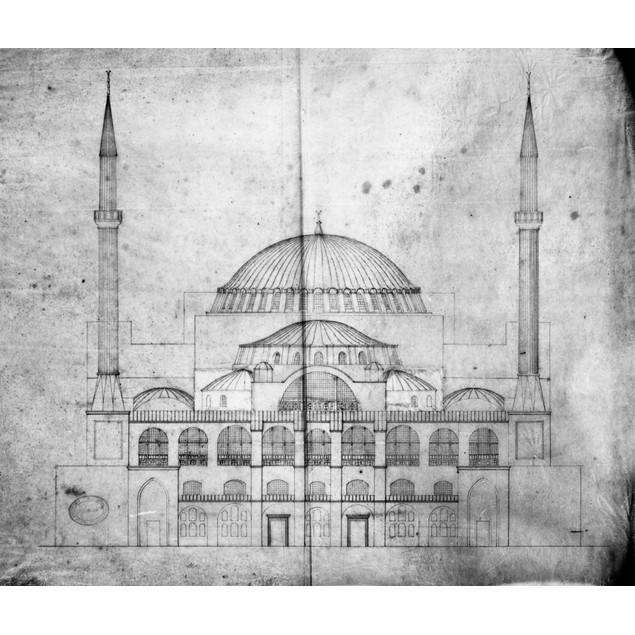 Turkey: Hagia Sophia, 1830S. /Narchitectural Plan Of Hagia Sophia In Istanb