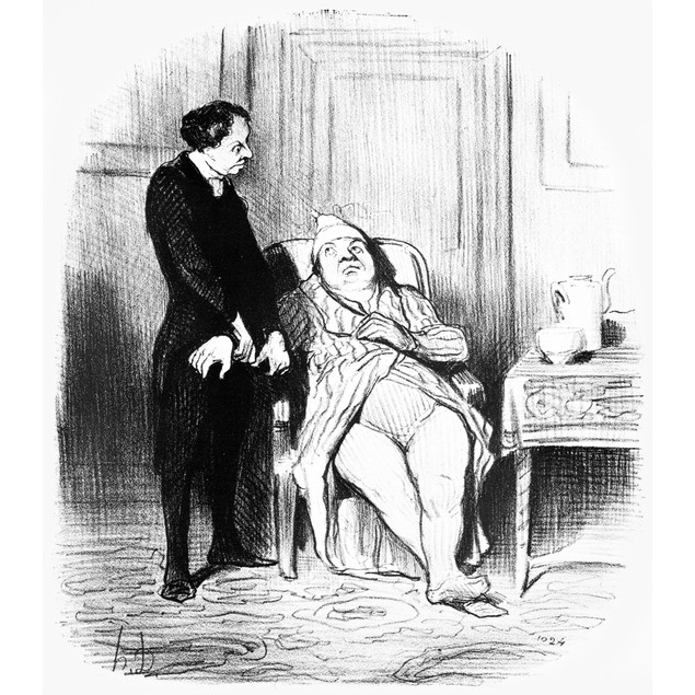 Daumier: Doctor Cartoon. /N'Oh Doctor, I'M Sure I'M Consumptive.' Lithograp