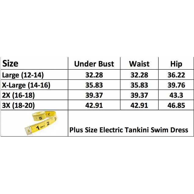 Plus Size Electric Tankini Swim Dress