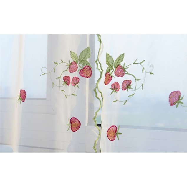 Embroidere flower Tulle Window Screens Curtain Panel Sheer