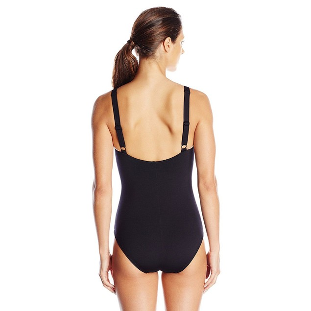 NWT TYR Women's Twisted Bra Solid Controlfit Top Black SZ: 8