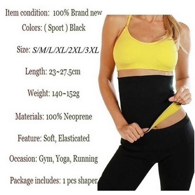 Neoprene Thermal Slimming Waist Belt Shaper Sauna Body Shaper Sports Vest