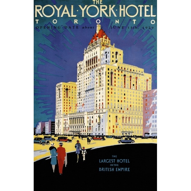 New York Hotel of Toronto .  Image taken from a Canadian Pacific travel pos