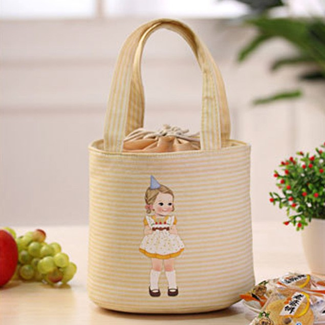 Tote Cooler Bag Thermal Insulated Box Bento Pouch Lunch Storage Case