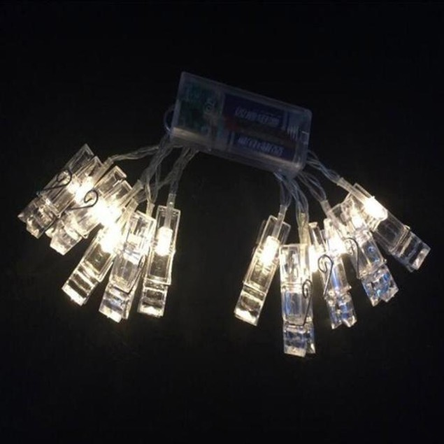 10 LED Clamp Hollow String Light Party Pictures Decor Lamp