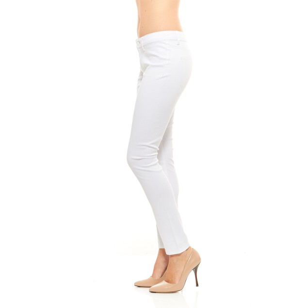Red Jeans Women's Seamless Casual Mid Rise Denim Pants