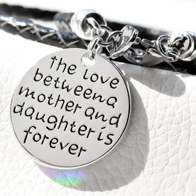 Mother & Daughter Hand Stamped Bracelet