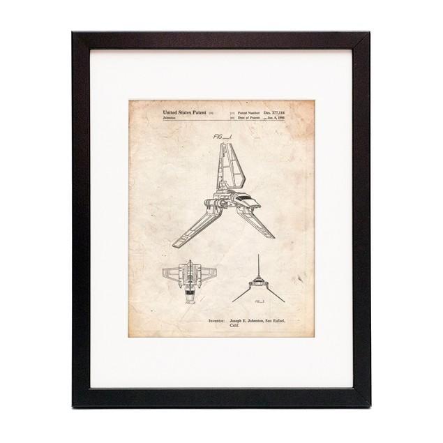 Star Wars Lambda Class T-4a Shuttle Patent Poster