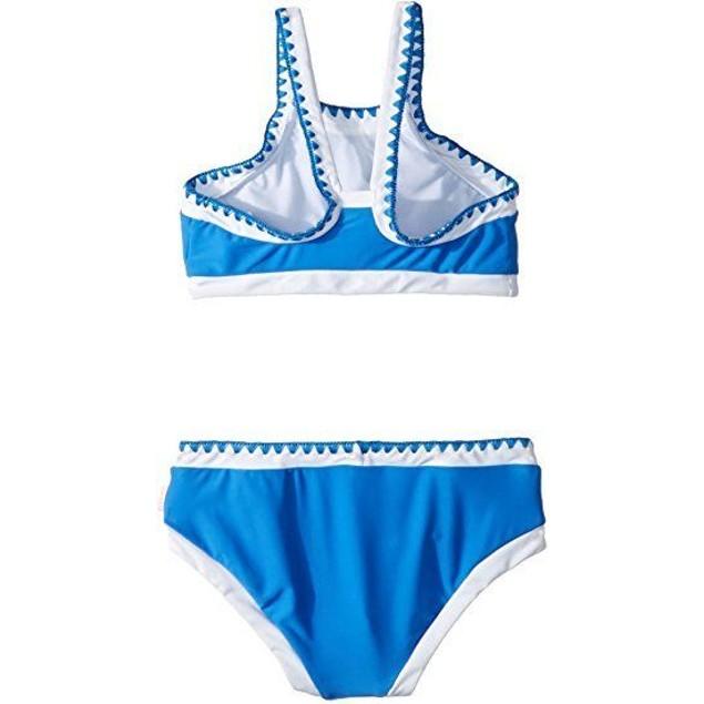 Seafolly Big Girls' Crochet Tankini Swimsuit, Hawaii Blue, Aus 8