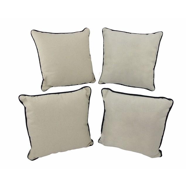 Set Of 4 Nautical Seashell Beach Themed Accent Throw Pillows