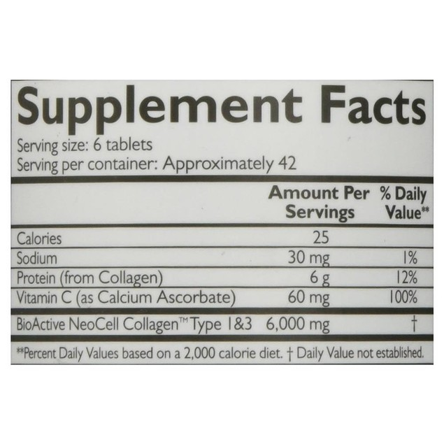 Neocell Super Collagen C Type 1 & 3 6000mg Vitamin Hydrates Firms Skin Hair