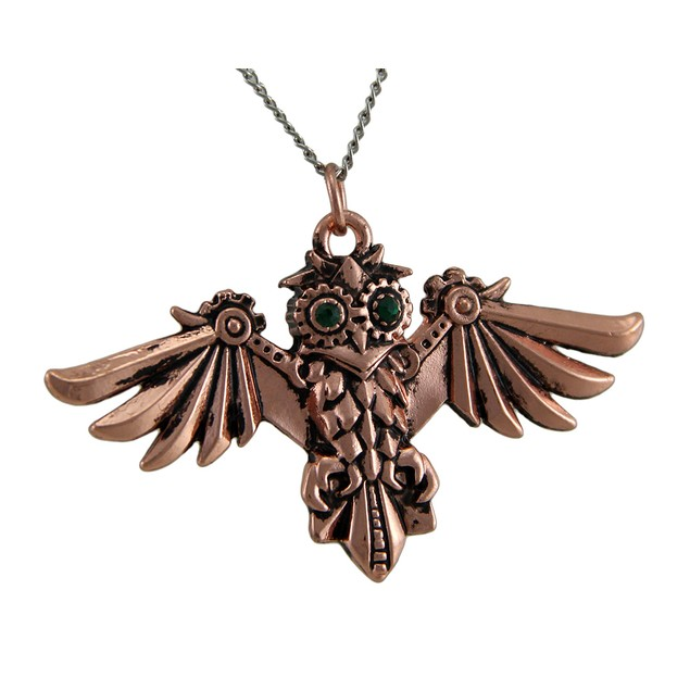 Anne Stokes Engineerium Aviamore Owl Steampunk Womens Individual Pendants